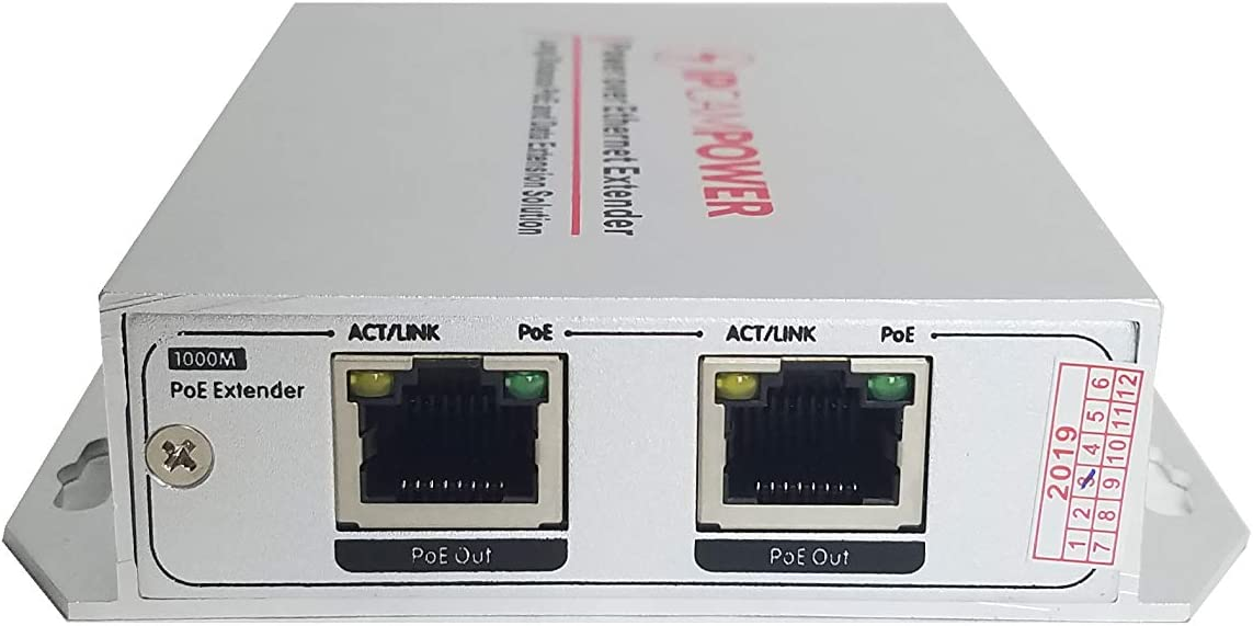 Up to 30 Watts Per Port 65 Watts Total Budget Built for IP Cameras IPCamPower 4 Port POE Plus Network Switch W// 2 Additional Uplinks