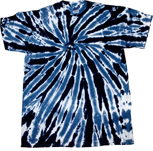 Colortone Tie Dye T-Shirt 2X Twist Navy