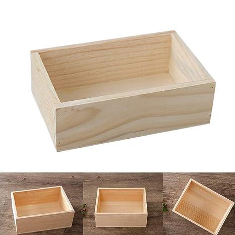 Milopon Caja de almacenamiento (Caja de madera caja de madera de almacenaje Box Vintage –