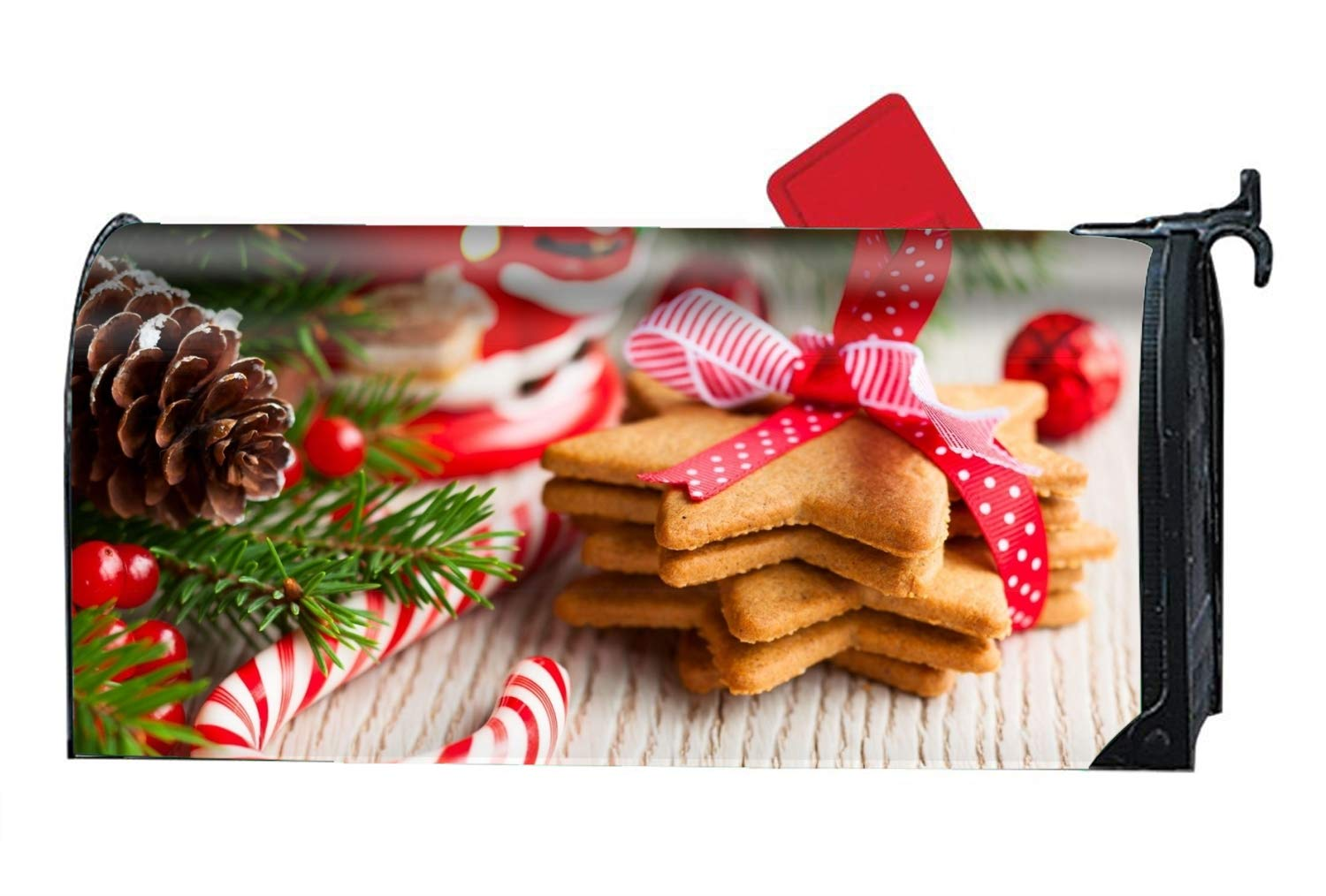 9fa9c9aade18 Amazon.com  Verna Christopher Christmas Cookies Customized Magnetic Mailbox  Cover Home Garden Cute Mailbox Wraps with Full-Surface Magnet On Back   Garden   ...