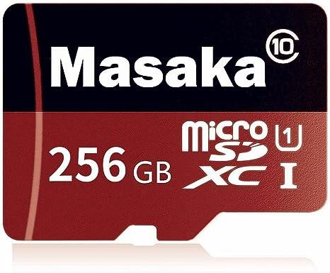 Masaka - Tarjeta de Memoria Micro SD de 256 GB (Clase 10 ...