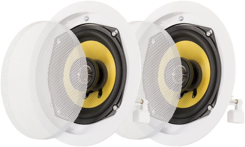 Acoustic Audio HD5-Pr 5.25-Inch Round 2 Way Kevlar Speakers