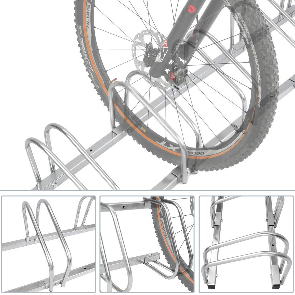 PrimeMatik - Soporte para aparcar Bicicletas en Suelo o Pared Aparcamiento para 5 bicis: Amazon.es: Electrónica