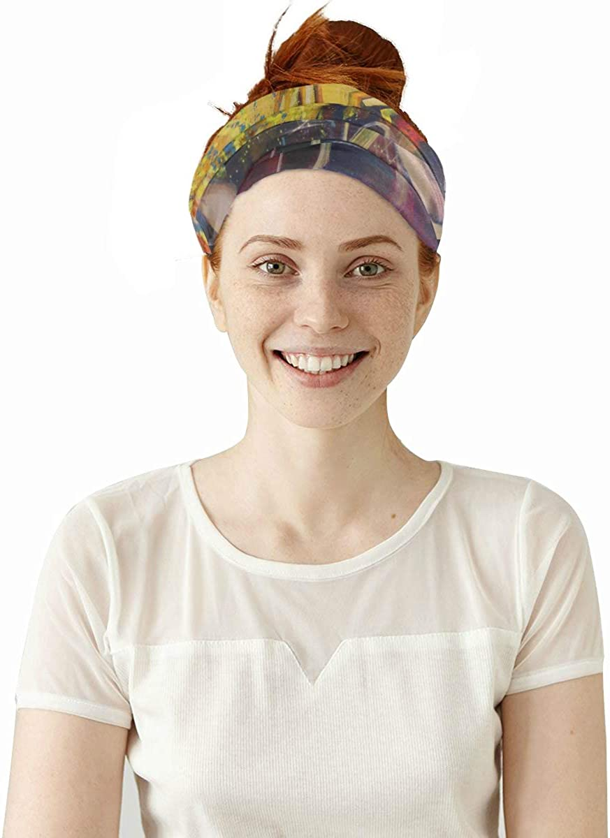 Headwear Rock Guitar Sweatband Elastic Turban Sport Headband Outdoor Head Wrap