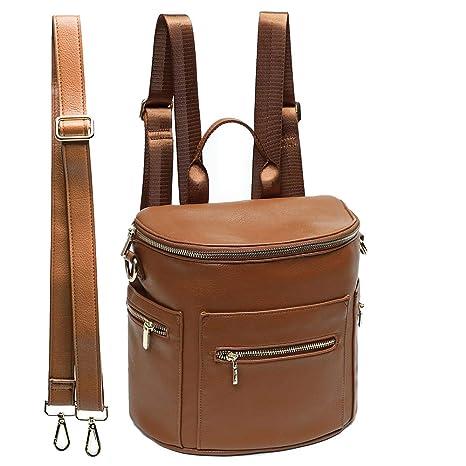 5773faafe0 Amazon.com  miss fong Leather Diaper Bag Backpack