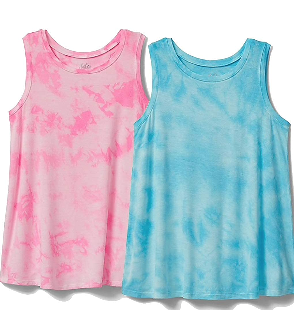 Justice 2-Count Top Swingy Tank Love Story /& Hyacinth Blue