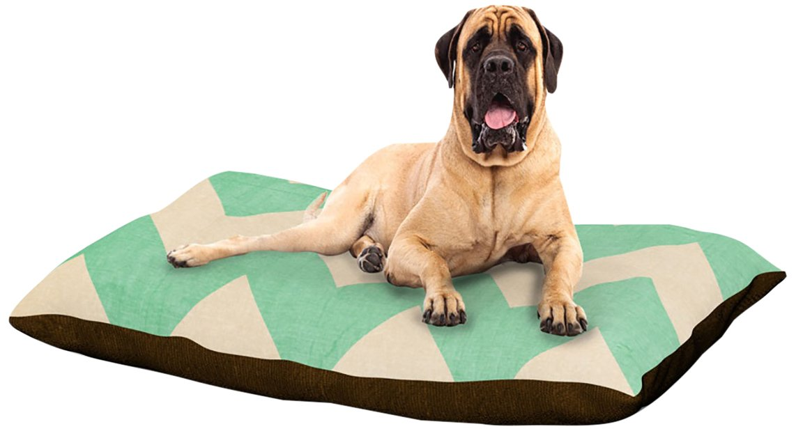 Malibu XLarge 40  x 50 Kess InHouse Catherine McDonald Juicy Chevron Fleece Dog Bed, 30 by 40Inch