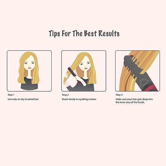 Cepillo alisador de pelo - AsaVea cepillo alisador de cabello: Amazon.es: Belleza