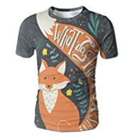 Edgar John What Does The Fox Say Quote Hipster Animals Know Better Habitat Creature Illustration Men's Short Sleeve Tshirt