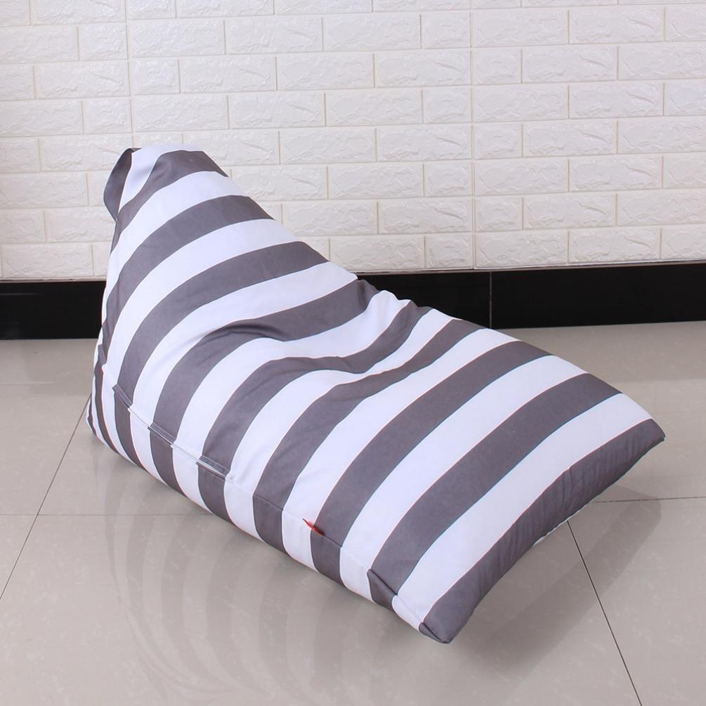 DDLBiz Kids Stuffed Animal Plush Toy Storage Bean Bag Chair Soft Pouch Stripe Fabric Chair (E) by DDLBiz (Image #6)