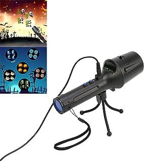 Domeilleur proiettore portatile LED torcia con vetrini treppiede USB/batteria Powered Handheld Stage Light Home party Light decorativo per festa di Halloween di Natale, Pasqua, festa di compleanno decorazione