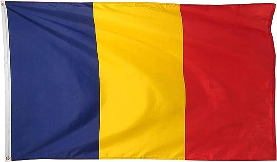 Ericraft Bandera Rumanía Grande 90x150cms Bandera rumana de balcón para Exterior Reforzada y con 2 Ojales metálicos, Bandera Rumania: Amazon.es: Jardín