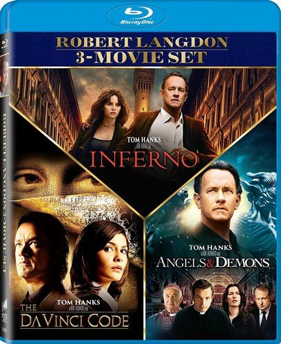 The Angels & Demons / Da Vinci Code  / Inferno - Set [Blu-ray] (Discount Tom Code)