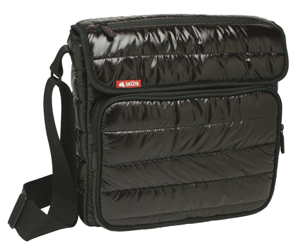 Skutr 8.5x11 Messenger + Tablet Puffy Jacket Nylon Bag, Black by SKTR