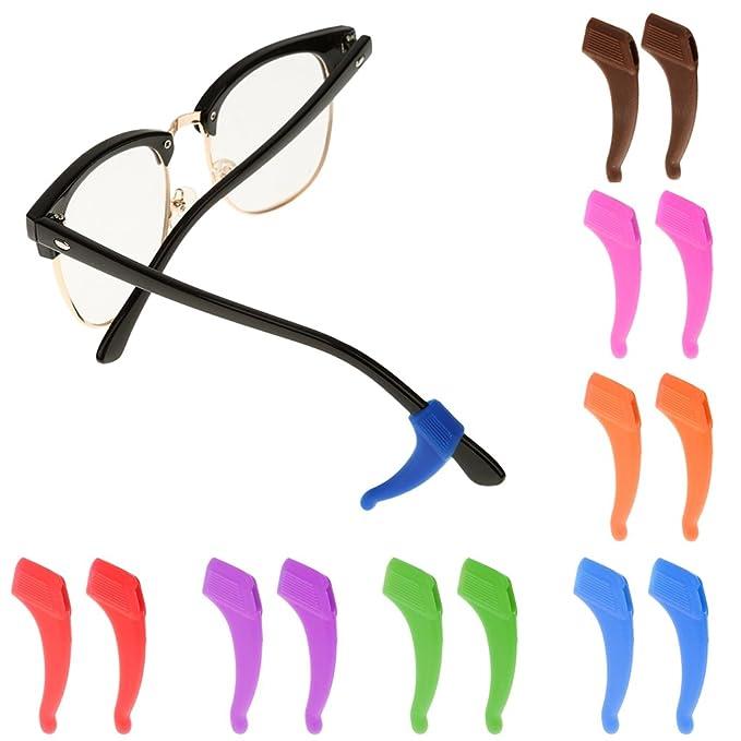 Ganchos de Oreja contra Deslizamiento Silicona para Gafas de Sol Deporte