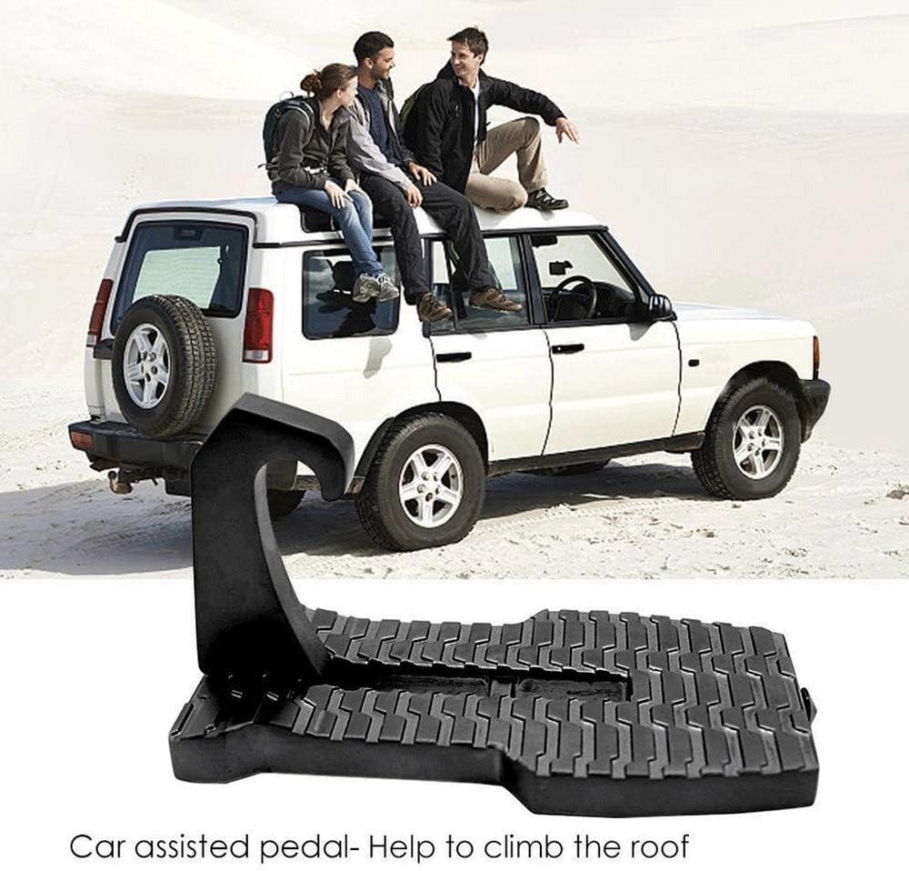RONSHIN Accesorios para Coche Escalera Plegable para Puerta de Coche con Gancho para Pedal para Jeep SUV
