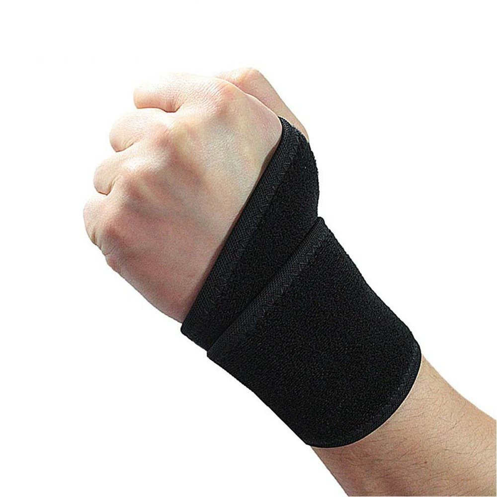 Wrist Brace Wrist Wrap Fitted Right Left Thumb Stabilizer Adjustable One Size Black Unisex (Single)