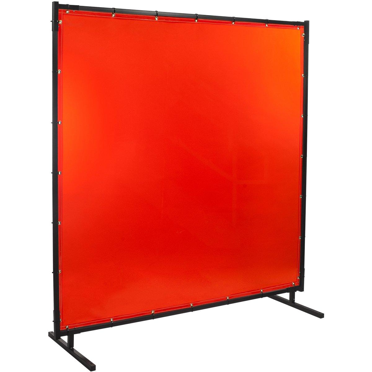 Steiner 538HD-5X6 Protect-O-Screen HD Welding Screen with Flame Retardant 14 Mil Tinted Transparent Vinyl Curtain, Orange, 5' x 6' 5' x 6' ERB