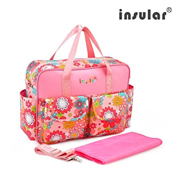 Adjustable Multifunctional Waterproof Mummy Shoulder Bag Diaper Bag Chic Nappy Changing Bag Tote//Messenger Style Large Light Weight with Changing Mat