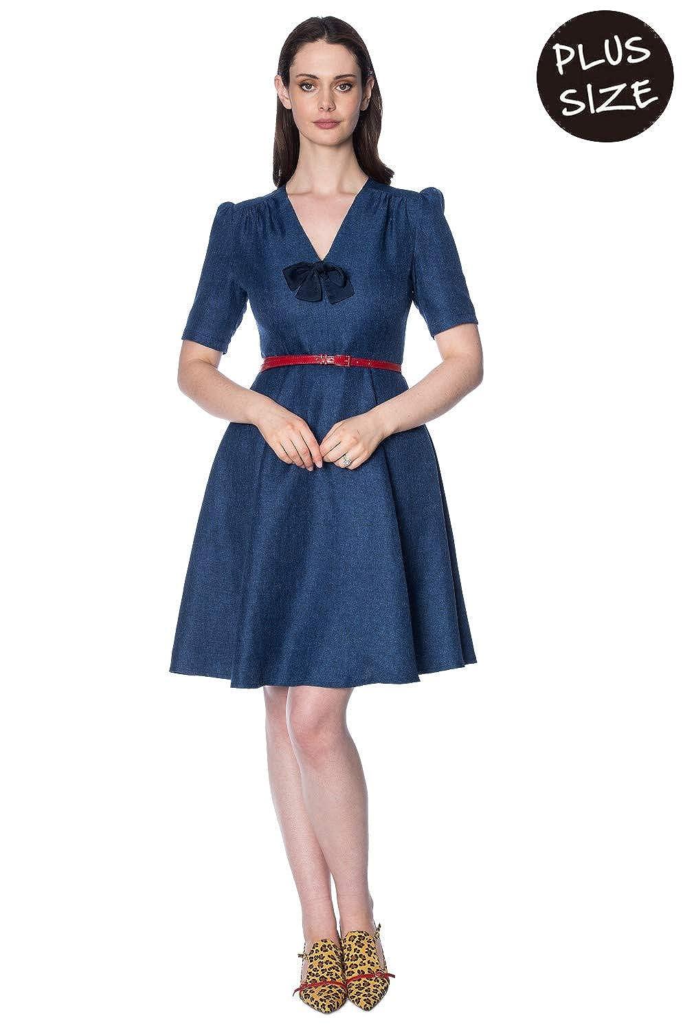 Banned Plus Size Secretary Dress - UK-20 at Amazon Women\'s Clothing ...