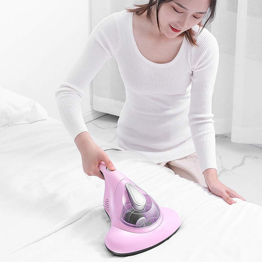LYTLD Aspirapolvere Manuale Antiacari, UV Aspirapolvere, per Materassi, Cuscini, Divani in Tessuto E Tappeti Aspirazione 400W Pink Pink