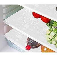 مجموعة مفارش لادراج الثلاجة مصنوعة من بلاستيك بي في سي بتصميم دوائر من كوبر اندستريز، 6 قطع،ابيض