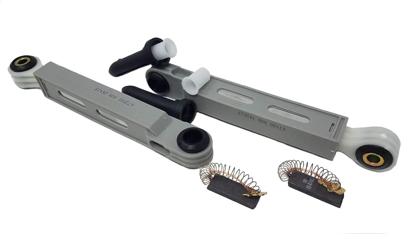 2 amortiguadores 90N 660865 673541 lavadora Bosch Maxx Siemens XL + 2 escobillas de carbón 00154740