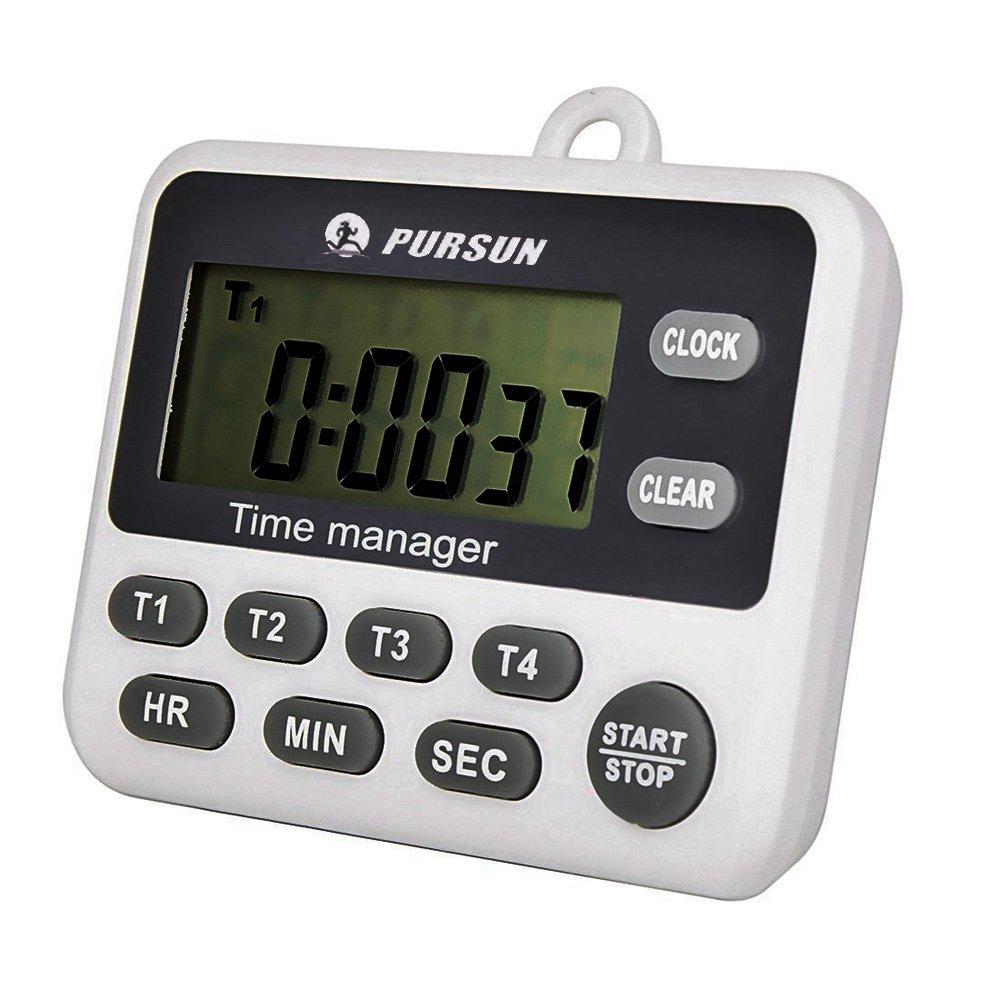 Timer da cucina 4 canali lcd timer da cucina digitale 2 pezzi ebay - Timer da cucina ...