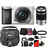 Cheap Sony Alpha A6000 Mirrorless Digital Camera with 64GB Deluxe Accessory Kit