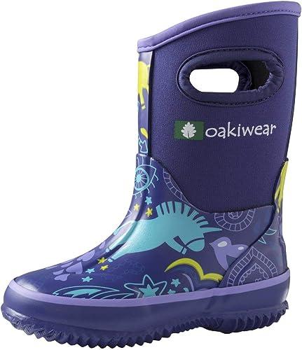 OAKI Kids Neoprene Rain Boots Muck Boots Snow Boots