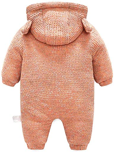 Newborn Baby Knitted Sweater Romper Boys Girls Hooded Jumpsuits Jackets Coats