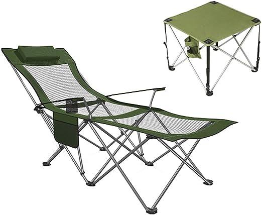 Silla de Camping compacta con Mesa Plegable y reposacabezas, Ideal ...