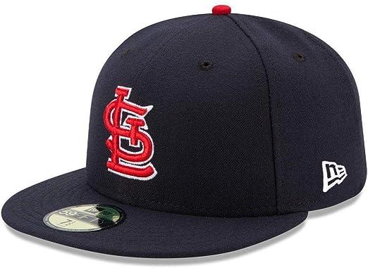 New Era 59Fifty Hat MLB Baseball Hat St Louis Cardinals Black White 5950 Cap