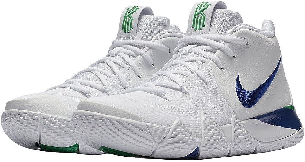 Nike Kyrie 4 Zapatillas de Baloncesto para Hombre (13, Blanco/Azul ...