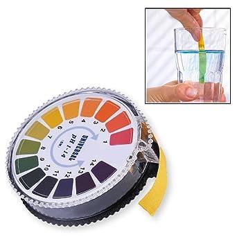 Fuhaoo PH Indicador tornasol Test Papel Tira rollo, 1 – 14 para agua orina y