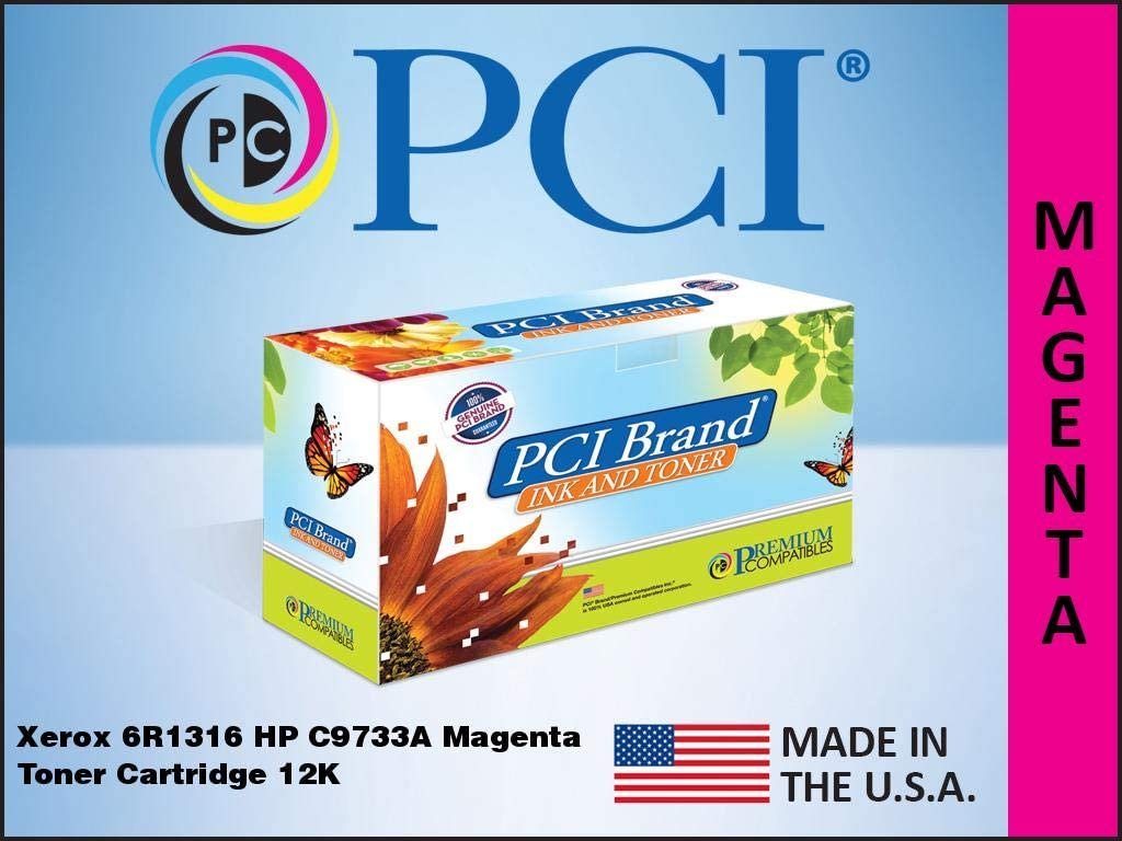 PCI Brand Remanufactured Toner Cartridge Replacement for Xerox 6R1316 Replaces HP 645A C9733A Magenta Toner Cartridge 12K Yld