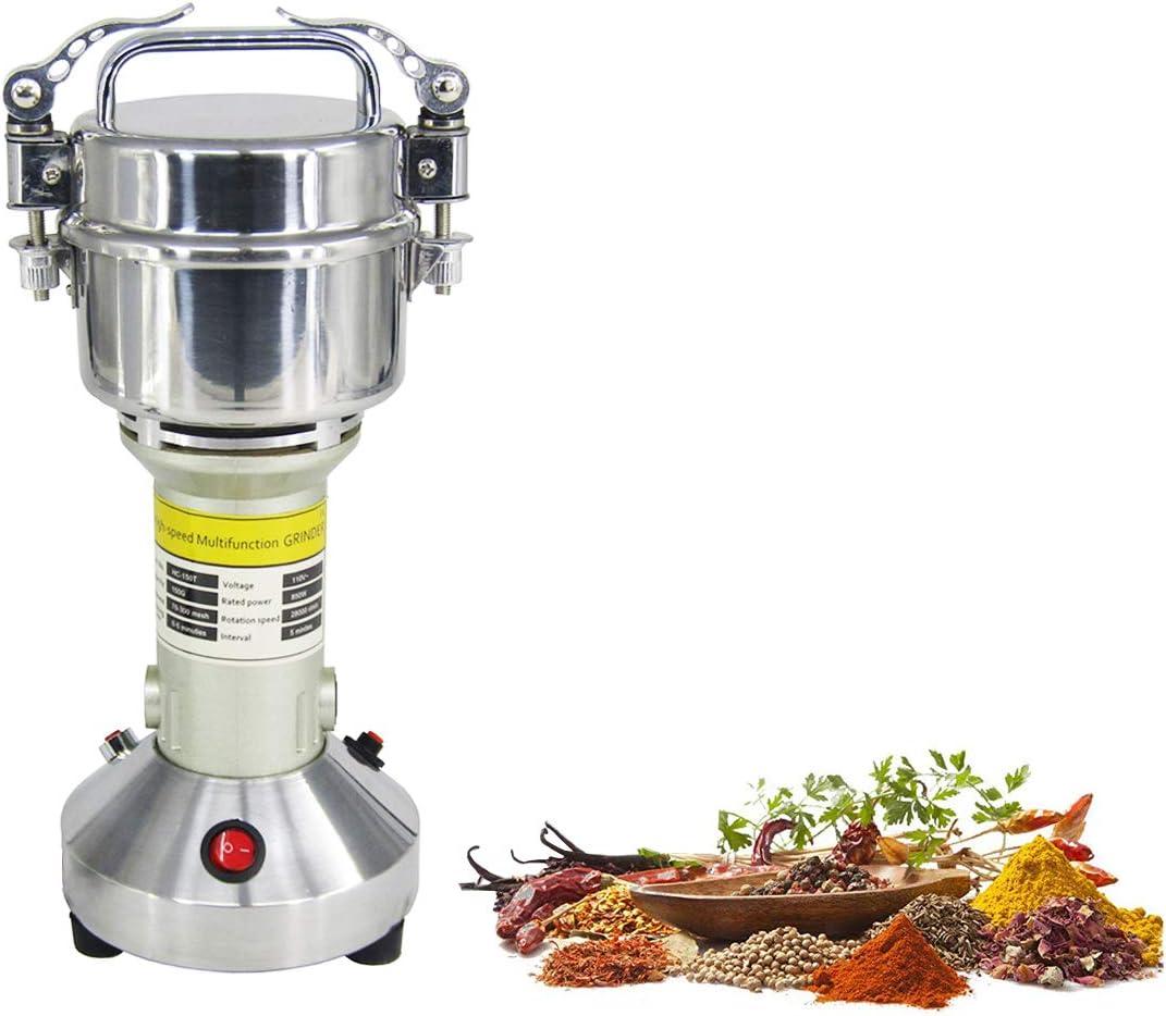 150g Electric Grain Grinder Mill Cereal Spice Grinder Herb Pulverizer Superfine Powder Machine 110V or 220V (110V)