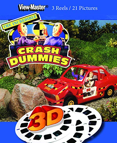 Crash Dummies - Classic ViewMaster - New 3 Reel Set - Action Figures with Cars