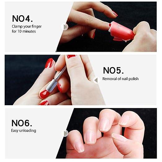 KOBWA - Juego de clips para quitar uñas, reutilizables, para dedos y uñas, para quitar las uñas, con clip de gel UV, para quitar esmaltes de acrílico, ...