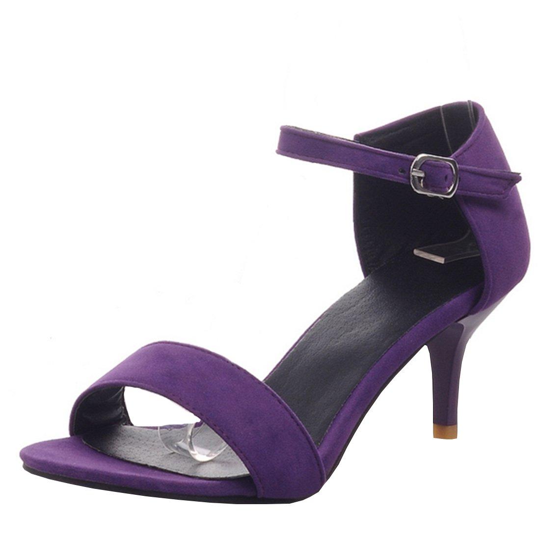 Agodor Damen Stiletto High Heels Sandalen mit Schnalle und Riemchen Open Toe Pumps Elegant Schuhe