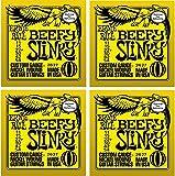 Ernie Ball 2627 Beefy Slinky Electric Strings, 4 Pack