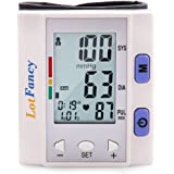 Automatic Digital Wrist Blood Pressure Cuff Monitor with Portable Case by LotFancy, Irregular Heart Rate Detector, 4-User Mode, Large LCD Display, FDA Approved, Perfect Device for Home Use