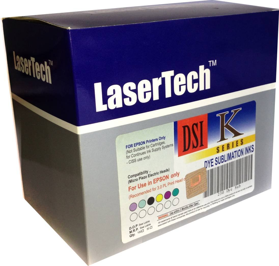 Lasertech Sublimation Ink For Epson L800 L1300 T60 1390 Printer Compatible With 15pl Print Heads 300 Computers Accessories