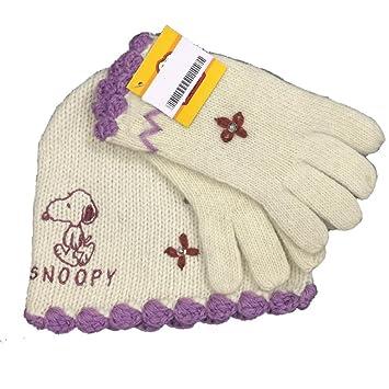 conjunto de guantes y gorro de invierno diseo de snoopy ropa infantil