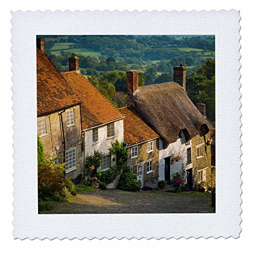 danita-delimont-houses-evening-gold-hill-in-shaftesbury-dorset-england-12x12-inch-quilt-square-qs-22