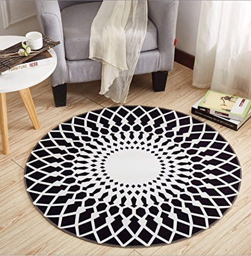 - ZXUE Home Anti-Slip Carpet Round Carpet Mats Rattan Upholstery Computer Chair Pads Bedroom Bedside Card Pads 100cm (39inch) (Color : D)