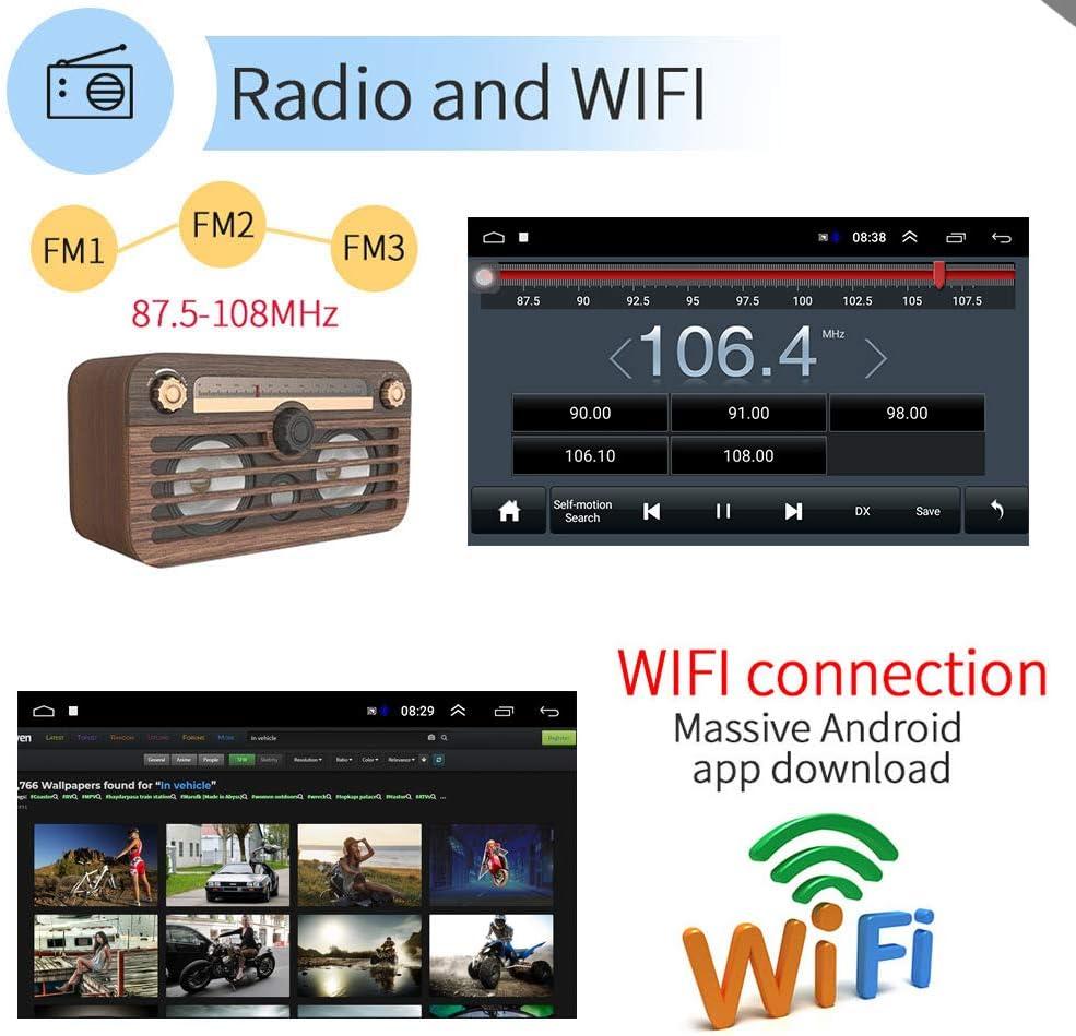 10.1/'/'2 Din Android GPS Autoradio+CAM BT Airplay iOS Lien Miroir FM Tactile Wifi
