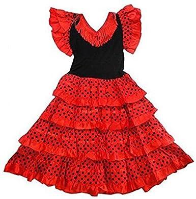 Vestido ropa disfraz de danza flamenca flamenco sevillana niña (10 ...