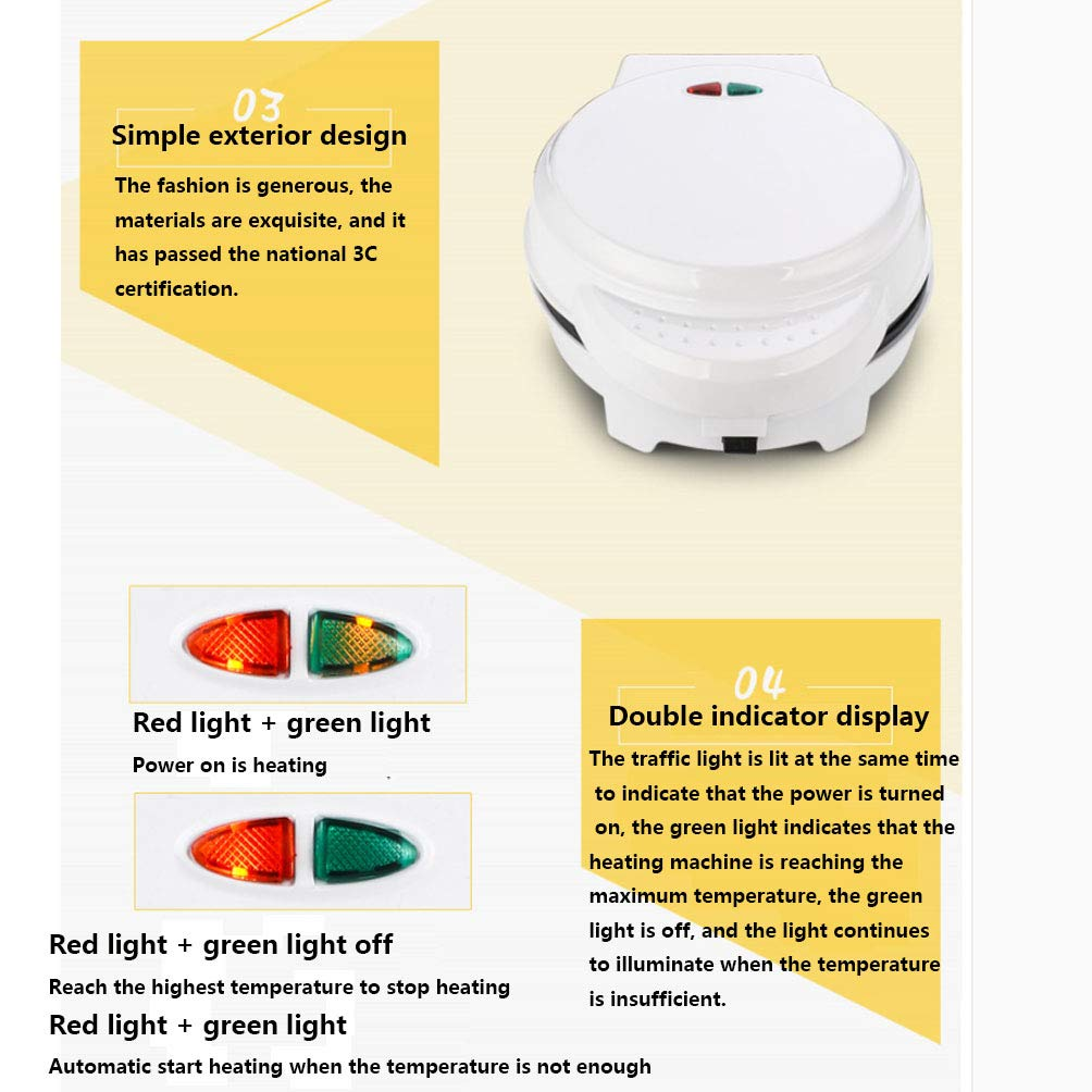 FJNS 800W Piastra elettrica Antiaderente per Waffle Combinazione Multifunzione a Riscaldamento a Doppia Faccia da Combinazione 7-in-1 teglia,10setsofbakingtrays