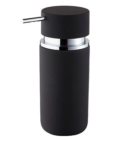 Diseño de jabón dispensador de cerámica redondo Jabón Dispenser Para el Baño Jabón Dosificador negro |